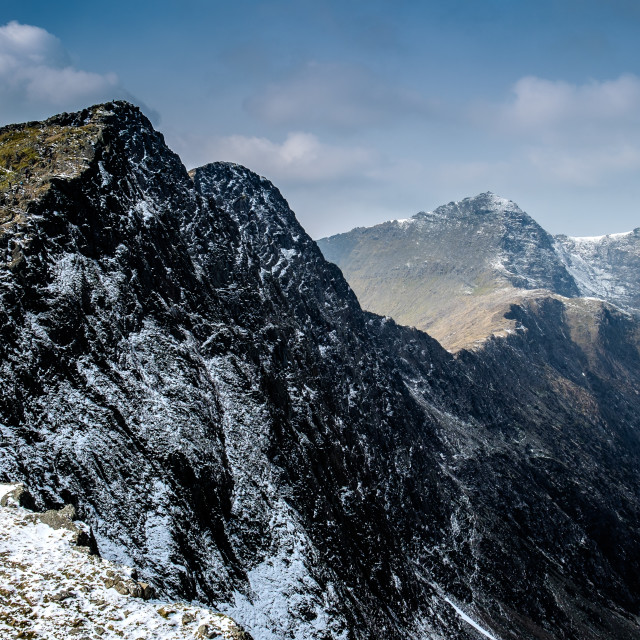 """Last leg of the Snowdon Horseshoe"" stock image"