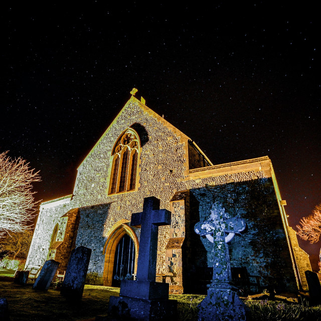 """Saint Nicolas church - pevensey"" stock image"