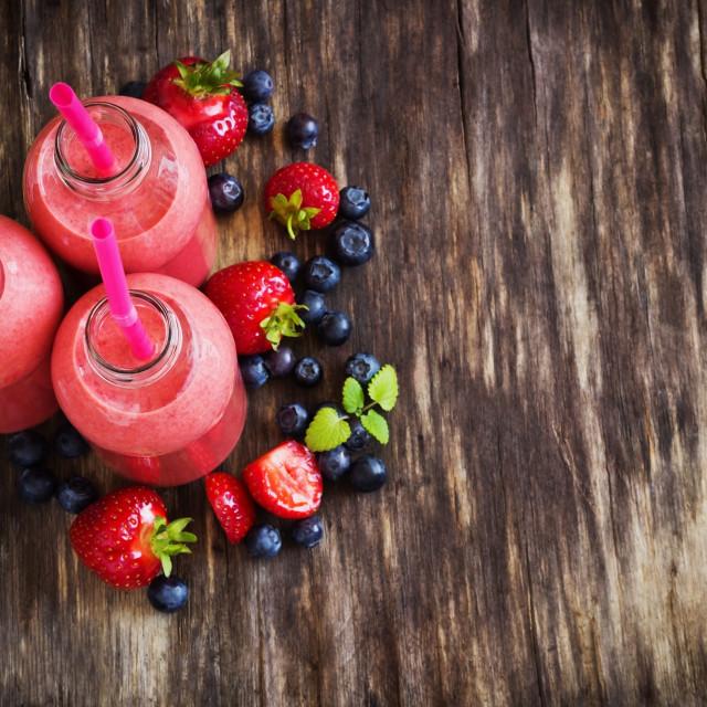 """strawberry smoothie"" stock image"