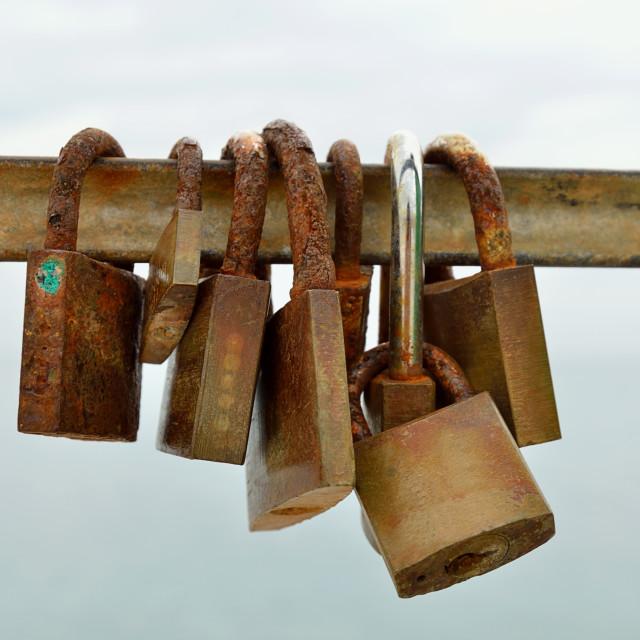 """""""padlocks"""" stock image"""