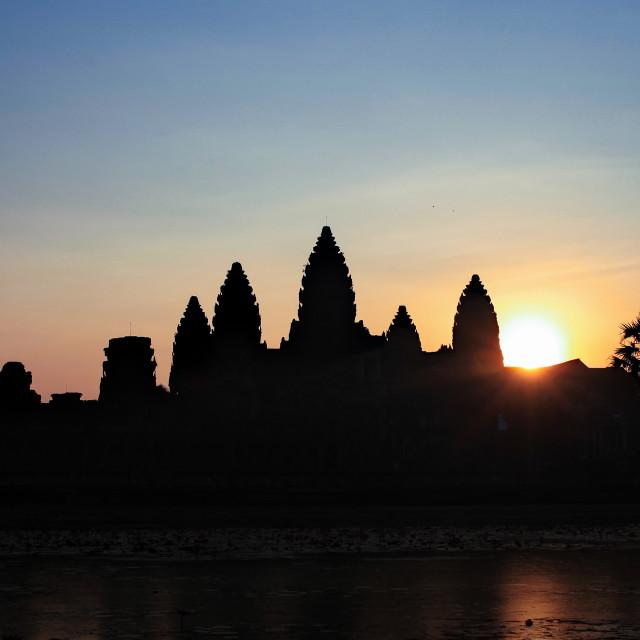 """""""Sunrise at Angkor Wat"""" stock image"""