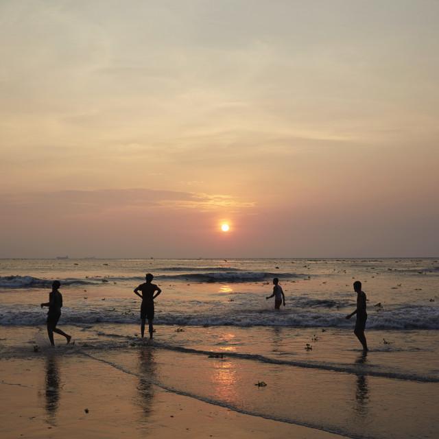 """Kerala sundown"" stock image"