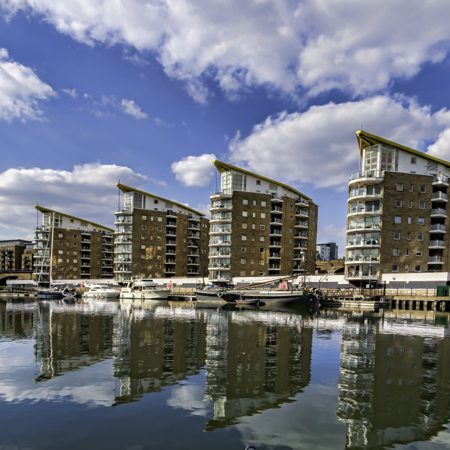 """Limehouse Basin"" stock image"