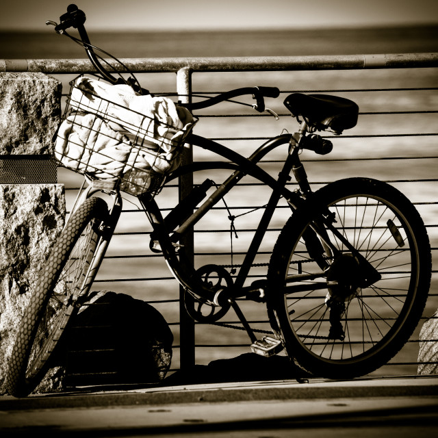 """Surfer's Bike"" stock image"