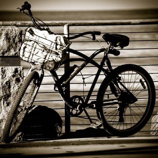 """Surfer's Bike"" stock image"