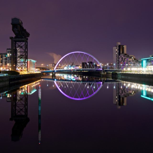 """Glasgow Riverside"" stock image"