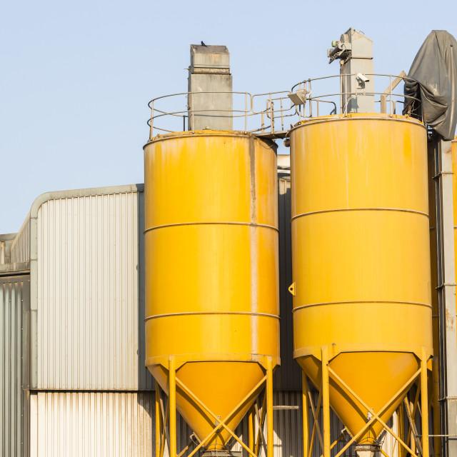 """Silos Factory"" stock image"