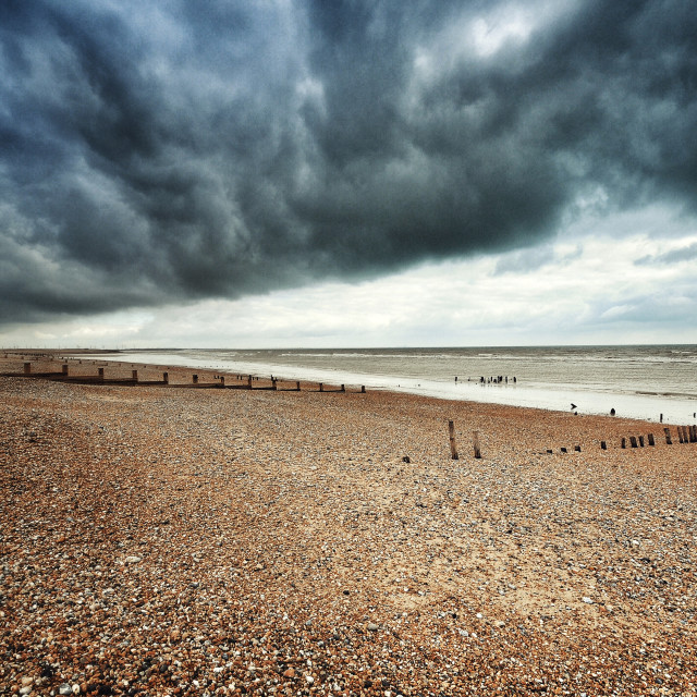 """Camber Sands Beach"" stock image"