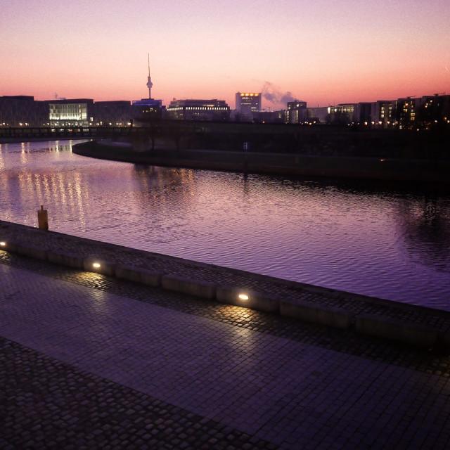 """Berlin at dusk"" stock image"