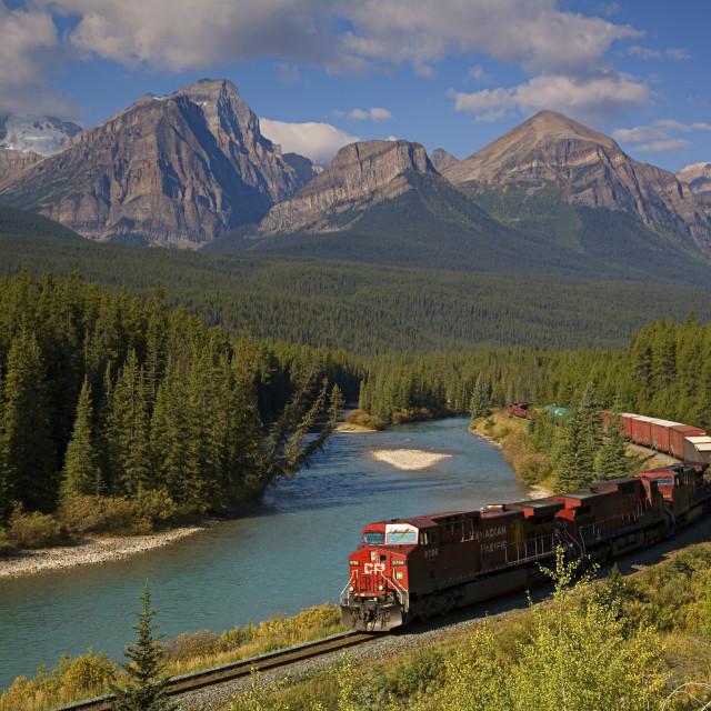 """Rocky Mountain Train"" stock image"