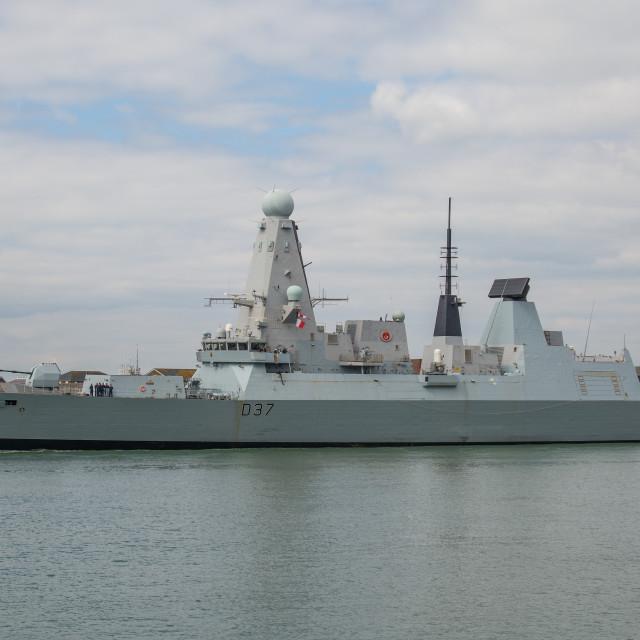 """""""HMS Duncan (D37)."""" stock image"""