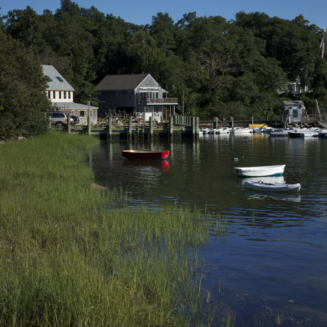 """Quissett Harbor, Cape Cod"" stock image"