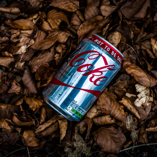 """""""Drinks can litter"""" stock image"""