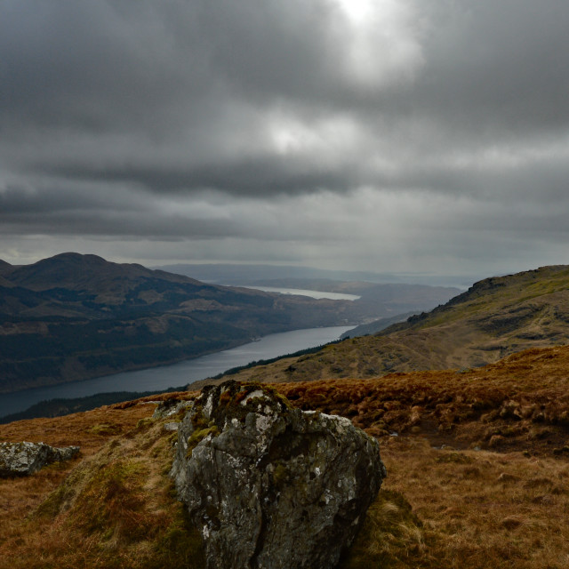 """""""Loch Long from The Brack"""" stock image"""