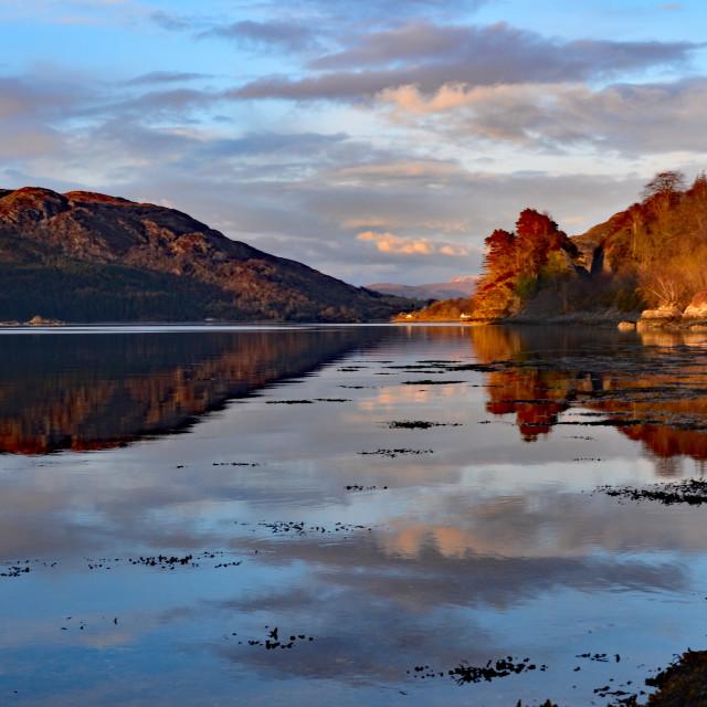 """Sunset @ Loch Carron"" stock image"