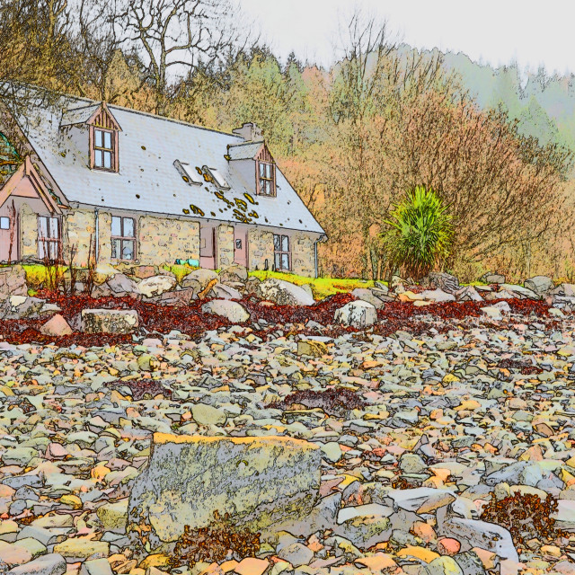 """Beach Cottage"" stock image"