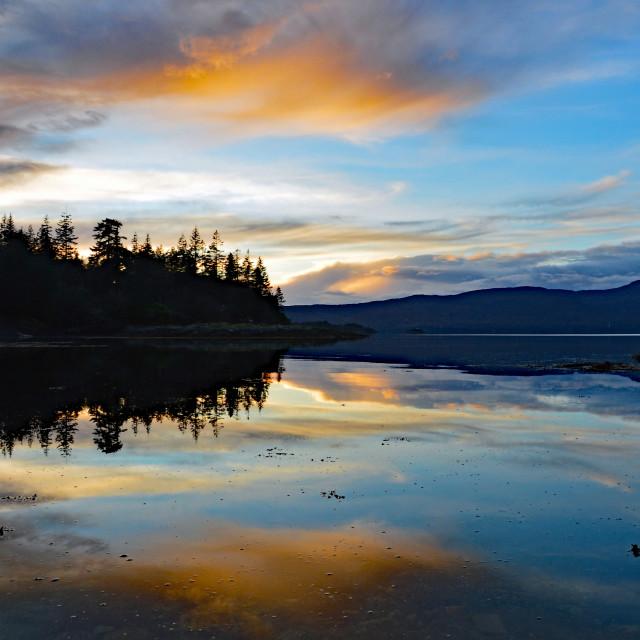 """Loch Carron Sunset"" stock image"