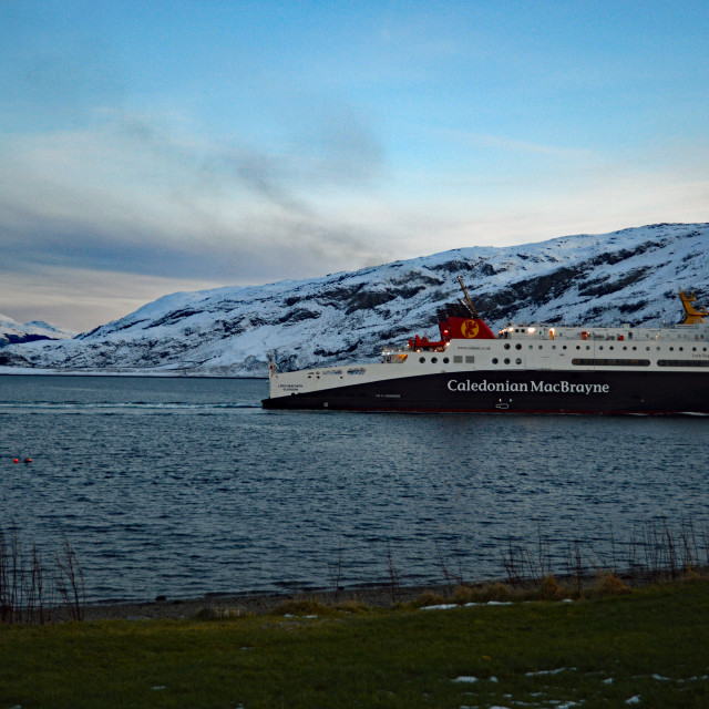 """""""Highland Ferry Crossing"""" stock image"""
