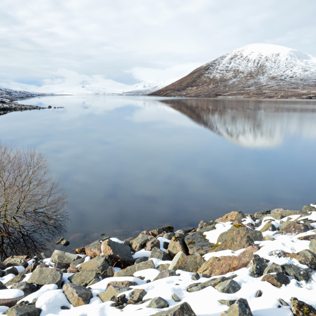 """Dam at Winter"" stock image"