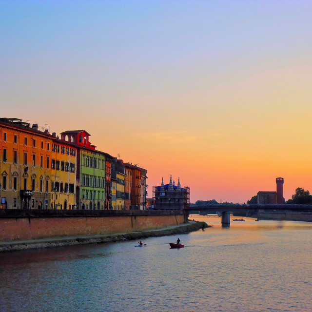 """Sunset in Pisa"" stock image"