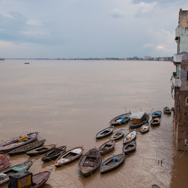 """View Down the Ganges"" stock image"