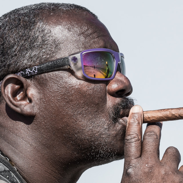"""Man with cigar"" stock image"
