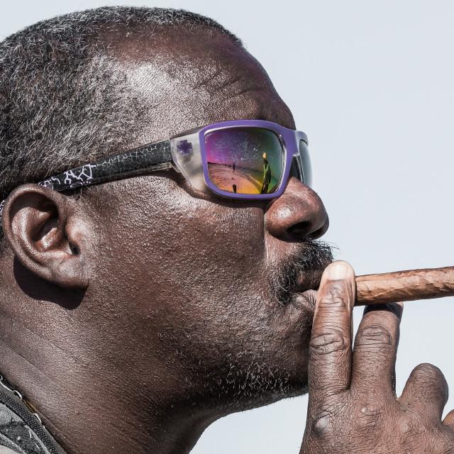 """Man with cigar"" stock image"