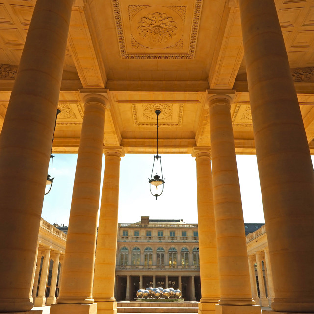"""Colonnade at the Palais-Royal"" stock image"