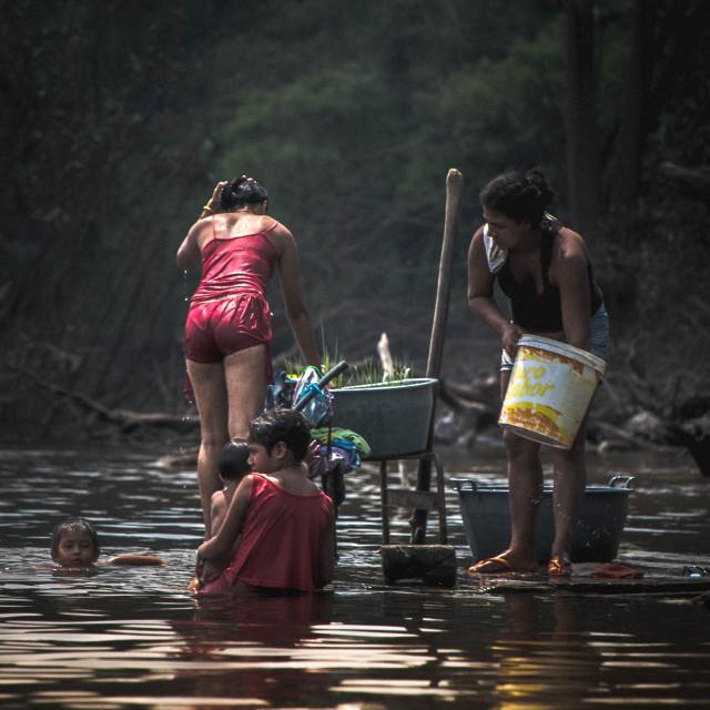 """""""Amazonians at work"""" stock image"""