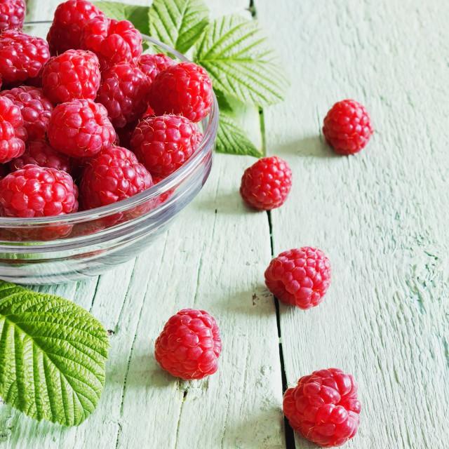 """ripe juicy raspberries"" stock image"