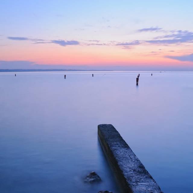 """""""landscape of sea at sunset"""" stock image"""