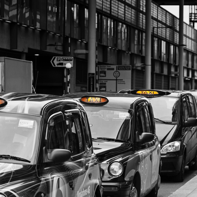 """Taxi Queue"" stock image"