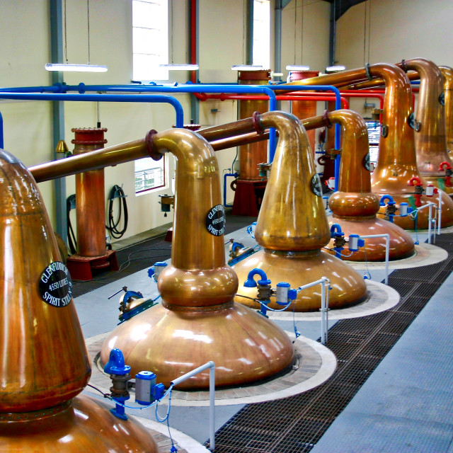 """Glenfiddich Distillery"" stock image"