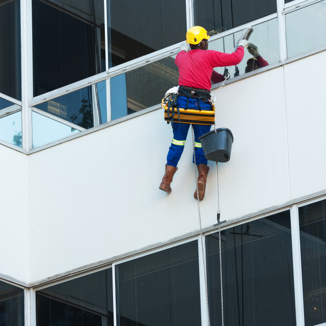 """Building window cleaner"" stock image"