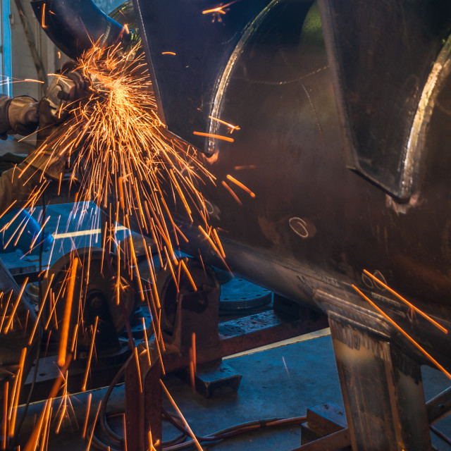 """Industrial grinder in an engineering workd"" stock image"