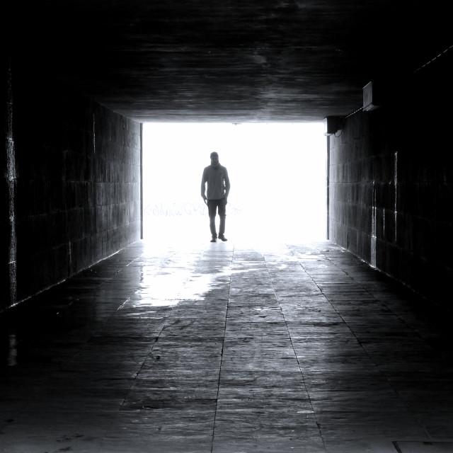 """Tunnel Light"" stock image"