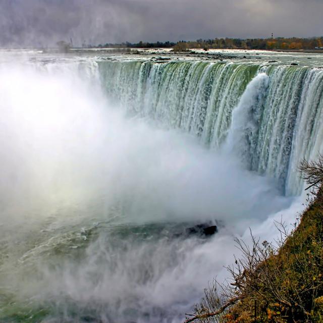 """Horseshoe Falls at Niagara Falls"" stock image"