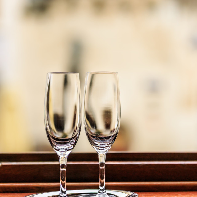 """Champagne flutes"" stock image"