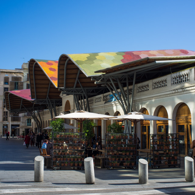 """BARCELONA - MARCH 14: Mercat de Santa Caterina, on March 14, 2013 in..."" stock image"
