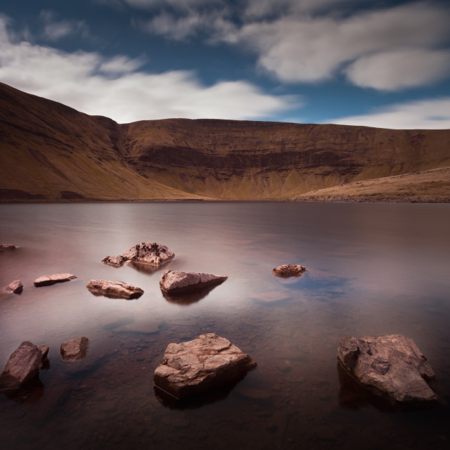 """Llyn y Fan Fach Lake"" stock image"