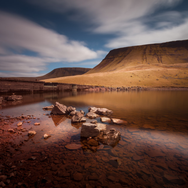 """Llyn y Fan Fach Mountain"" stock image"