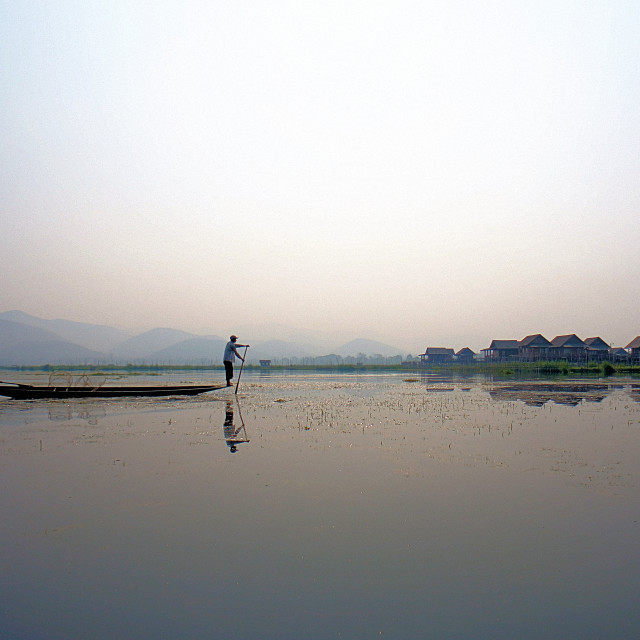"""Inle Lake Fisherman"" stock image"