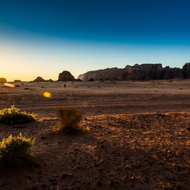 """Wadi Ram Sunrise"" stock image"