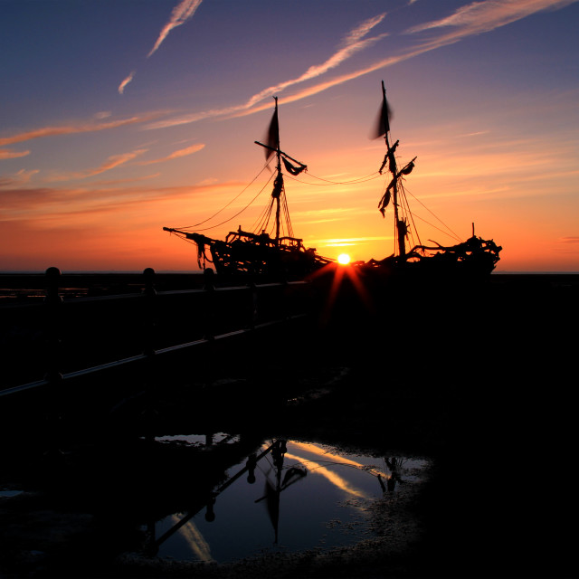 """Grace Darling Sunset"" stock image"