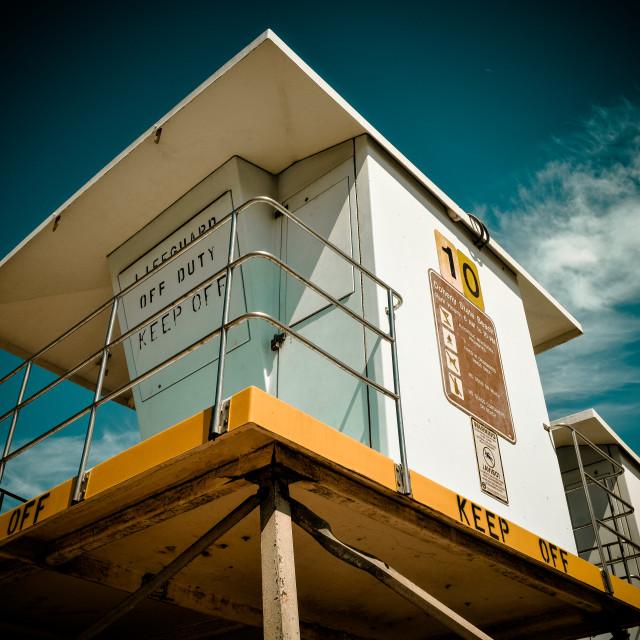"""""""Lifeguard Tower"""" stock image"""