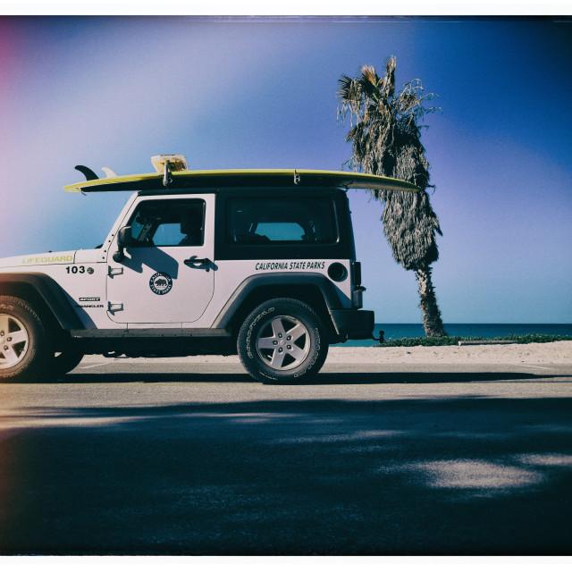 """""""Lifeguard Patrol"""" stock image"""