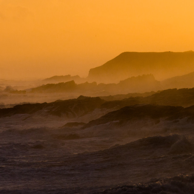 """Nort sea at sunrise."" stock image"
