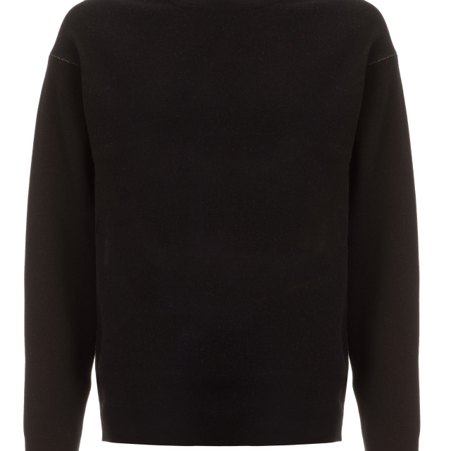 """""""Cut-out of Plain Black Long-Sleeved Shirt on Invisible Mannequin"""" stock image"""