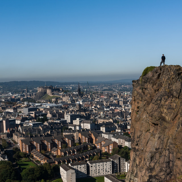 """Edinburgh Skyline"" stock image"