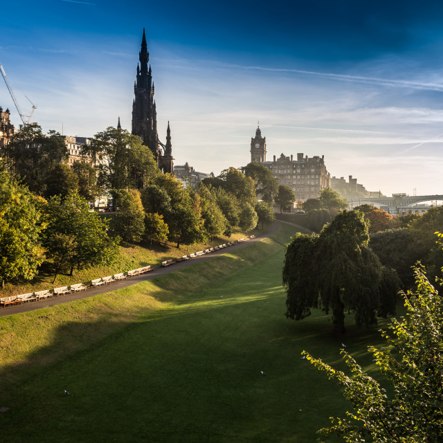 """Edinburgh Princes Street East Gardens"" stock image"